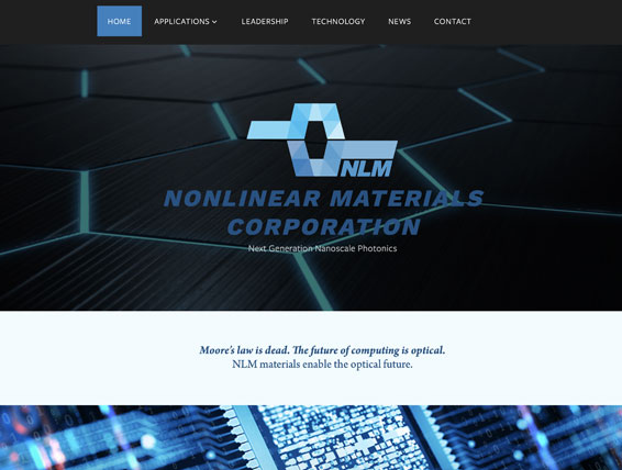 Nonlinear Materials Corporation  Website